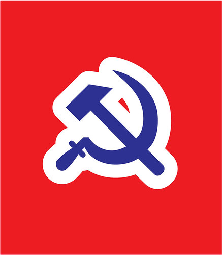 Communist flag by Karstein Volle
