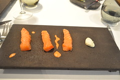 Lightly smoked salmon, roe, dill flower cream