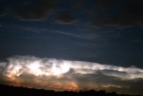 storms and stars - guess whose shutter speed was too slow