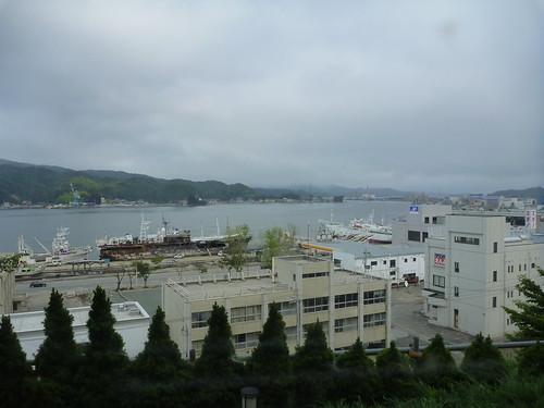 気仙沼プラザホテル, 陸前高田で震災ボランティア(帰路) Japan Quake Volunteer Bus to Rikuzentakata, Iwate pref.