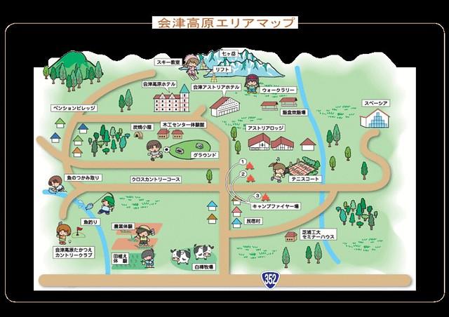 会津高原エリアマップ