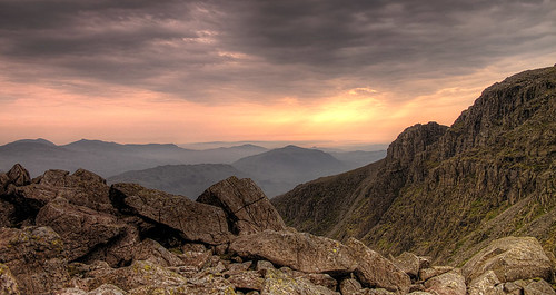 The Coniston Fells and Harter Fell from Broad Crag