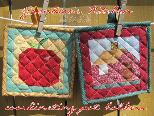 Grandma's House Quilted Potholder Set