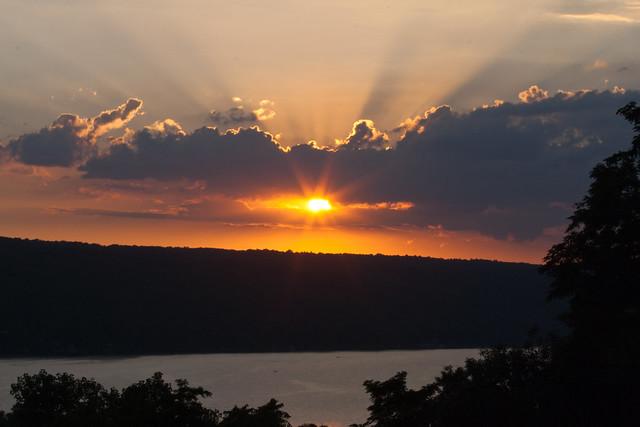 Sunset over Cayuga Lake