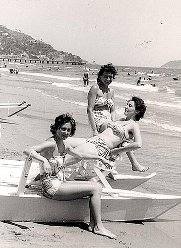 1960s Women on Beach