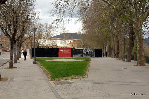 Solar al comienzo de la calle Aralar, frente a la Plaza de Toros, en el que está prevista la construcción del futuro Museo de los Sanfermines de Pamplona.