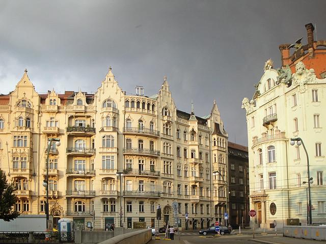 riverside buildings.
