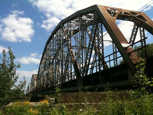 Most kolejowy w Górze Kalwarii z zachodniego brzegu by Polek