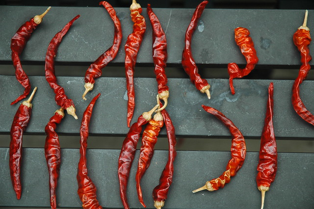 sun-dried cayenne peppers