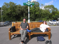 Sean and Jane relax at Eridge