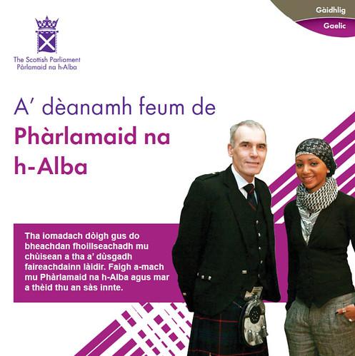 A' dèanamh feum de Phàrlamaid na h-Alba