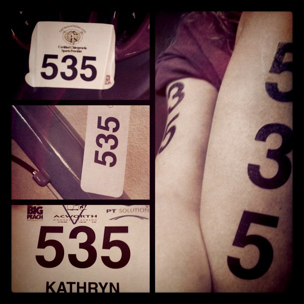 That race number goes everywhere.