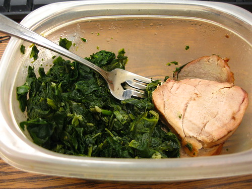 Pork Tenderloin Medallions and Spinach