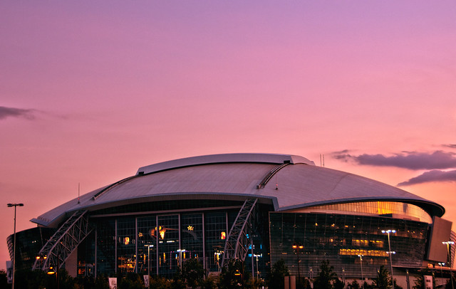 HDR Cowboys Stadium at Sunset