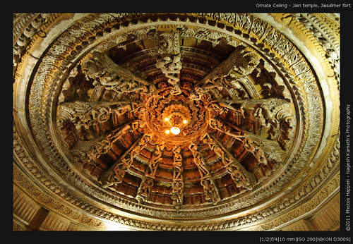 Ornate Ceiling - Jain temple, Jaisalmer fort