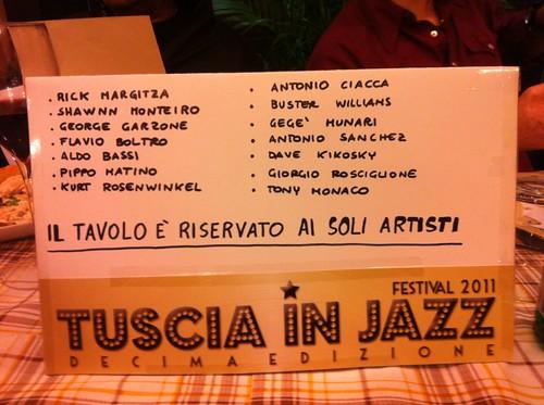 In diretta dal Tuscia in Jazz: il tavolo degli artisti by cristiana.piraino