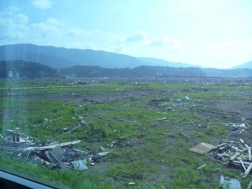陸前高田(大船渡へのボランティア途上) Rikuzentakata, Dameged by Huge Tsunami