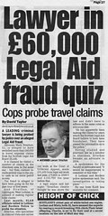 Lawyer in 60K legal aid fraud quiz Daily Record 11 July 2011
