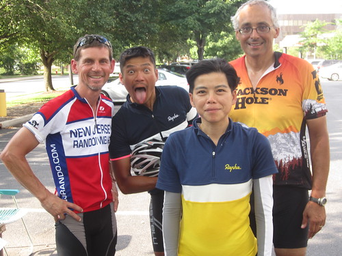 Myself, Patrick, Yiping & Roy, all smiles.  A GREAT feeling of satisfaction after finishing this challenging course