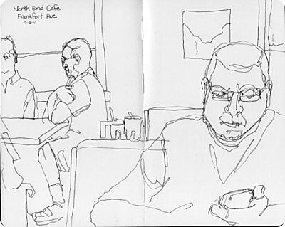 Louisville Travel Sketches - North End Cafe