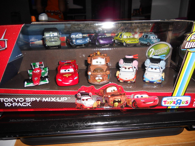 disney cars 2 tokyo spy mix up toys r us exclusive 10 pack (1)