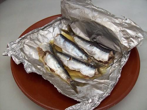 Papillote de sardinas
