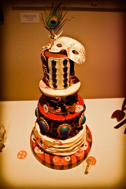 Steampunk wedding cake!