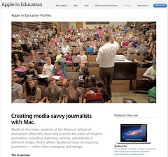 Missouri School of Journalism - Apple Mac Book pro - promo