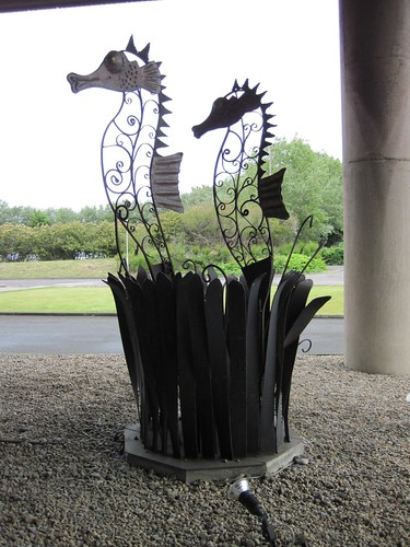 Sea Horses Sculpture , Steel House