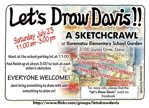 let's draw davis! 32nd worldwide sketchcrawl