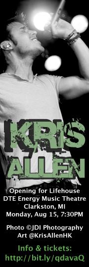 Kris Allen Lifehouse Wayland concert August 15 2011 DTE Energy Music Theatre Facebook profile picture