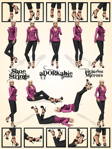 aDORKable Poses: Shoe Strings