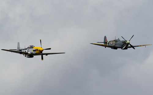 RAF Spitfire and American P-51 Mustang