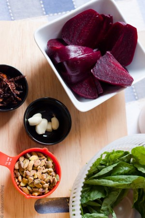 Ingredients for Beets Pesto