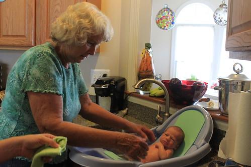 Sagan - Day Sixteen - Grandma Gives Him A Bath