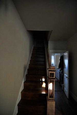 Stairs before skylight