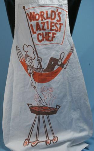 Laziest Chef Vintage Apron