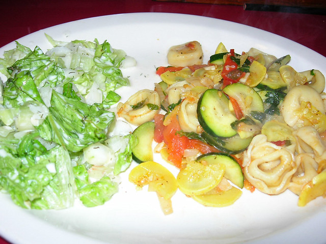 Zucchini & Tortellini with Cucumber Dressing Salad