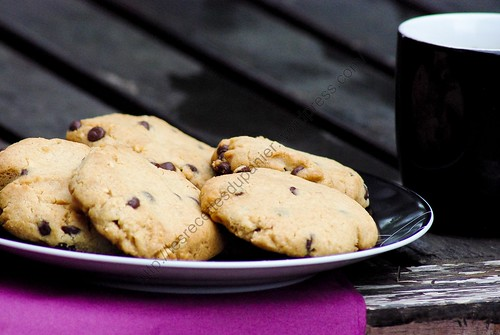 Cookies aux cacahuètes et chocolat / Peanut and Chocolate Cookies