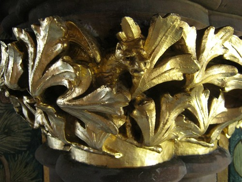 Close up of the Gilded Capitals