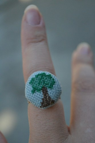 Cross Stitch Tree Ring