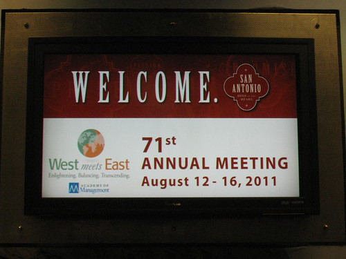 San Antonio Airport Welcome - AOM 2011