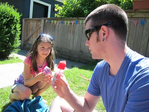 Raspberry Juice Popsicles