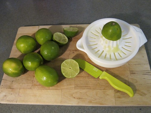 Juicing Eight Limes