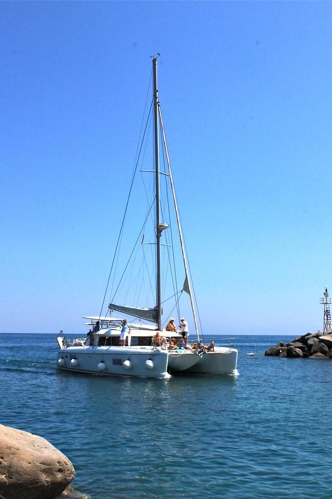 Catamaran, Santorin, Grèce