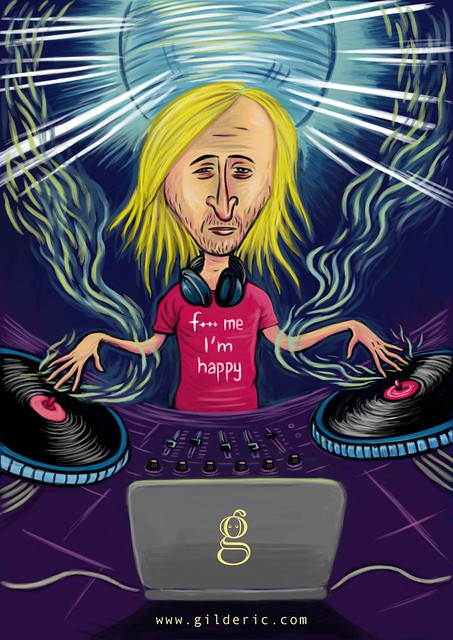 Pop Icons : David Guetta - Illustration : Gilderic