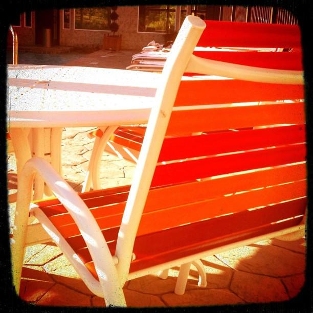 Pool chairs at the zermatt resort