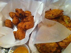 Fried Green Tomatoes and Hushpuppies