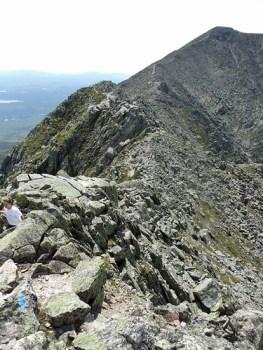 View across Katahdin's Knife Edge trail.