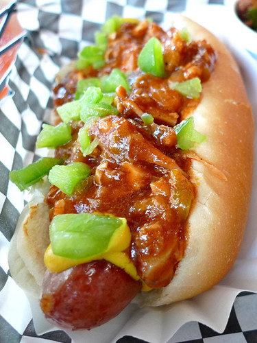 Soul Dog's BBQ Chicken TOPPED Hot Dog